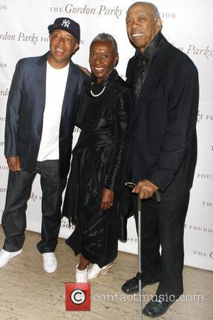 Russell Simmons, Bethann Hardison and Geoffrey Holder
