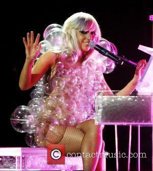 Lady Gaga aka Joanne Stefani Germanotta performs during the GRAMMY Celebration Concert Tour held at The House of Blues Boston,...