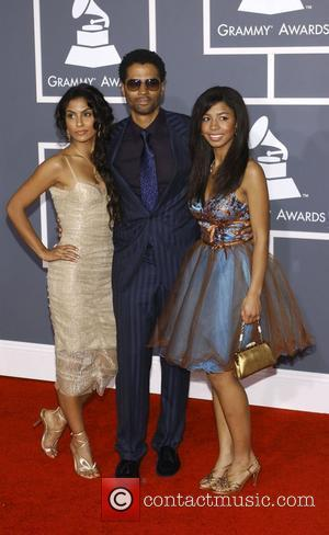 Eric Benet with his daughter India and Manuela Testolini 51st Annual Grammy Awards held at the Staples Center - Red...