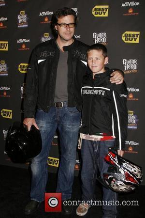 Dean McDermott and son