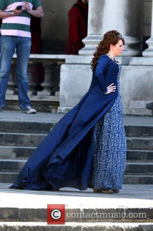 Catherine Tate on the set of the film 'Gulliver's Travels' in south west London London, England - 02.06.09