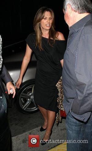 Daisy Fuentes leaving Elton John's Birthday party at Hamburger Hamlet Los Angeles, California - 27.03.09