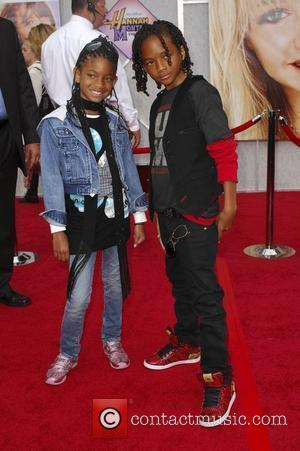 Willow and Jaden Smith World Premiere of Walt Disney Pictures 'Hanna Montana The Movie' held at the El Capitan Theatre...