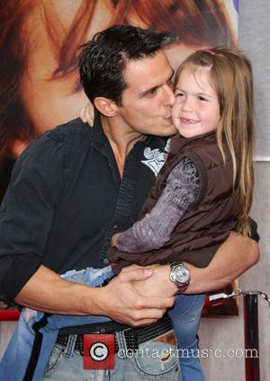 Antonio Sabato Jr and daughter World Premiere of Walt Disney Pictures 'Hanna Montana The Movie' held at the El Capitan...