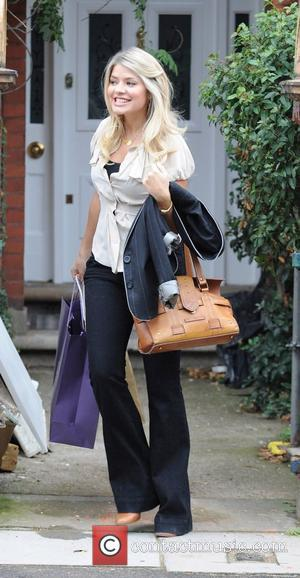 Holly Willoughby leaving her house after confirming she was pregnant on the ITV2 show 'The Xtra Factor' London, England -...