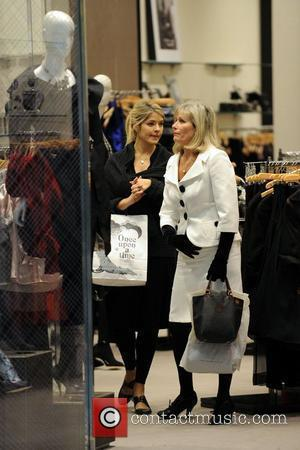 Holly Willoughby seen out shoe shopping with her mum at the new Westfield Shopping Centre in Shepherd's Bush London, England...