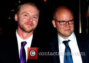 Simon Pegg and Toby Young , arrives at the UK film Premiere of 'How To Lose Friends And Alienate People'...