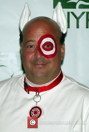 Andrew Zimmern and Bette Midler
