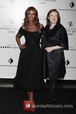 Iman and Harper's Bazaar Editor-in-chief Glenda Bailey