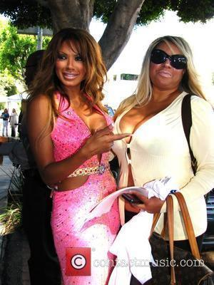 Traci Bingham competes for her own reality show while filming a scene on 'Gimme My Reality Show!' at the Ivy...
