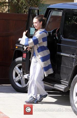 Jennifer Love Hewitt looks unhappy as she has lunch with her mum at Casa Vega in Sherman Oaks Los Angeles,...