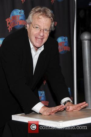 Jerry Springer hand print ceremony at Planet Hollywood in Times Square New York City, USA - 06.11.08