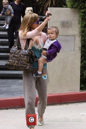Jessica Alba, Sporting A New Blonde Hair, Leaving A House In Beverly Hills With Her Daughter, Honor Marie Warren and After A Playdate