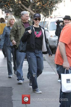 Jimmy Kimmel and Sara Silverman Have Lunch With Friends At Joan's
