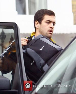 Joe Cole leaving his house wearing a Chelsea football team tracksuit. The Chelsea mid-fielder will be reunited with his fiancee...