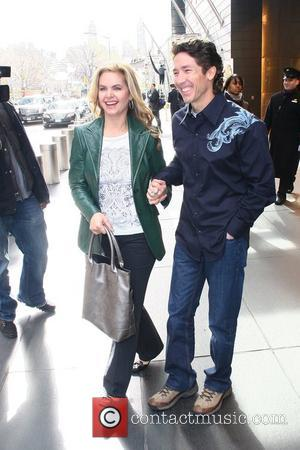 Pastor Joel Osteen and his wife Victoria Osteen outside their Manhattan hotel New York City, USA - 07.04.09