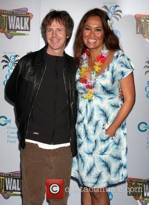 Dana Carvey and Tia Carrere The Grand Opening of The Jon Lovitz Comedy Club held at Universal City Walk Los...