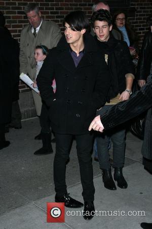 Joe Jonas and David Letterman