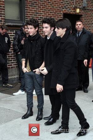 Nick Jonas and David Letterman
