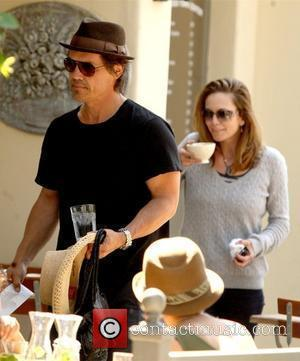 Josh Brolin and Diane Lane having lunch at Le Pain Quotidien restaurant at The Brentwood Country Mart  Los Angeles,...