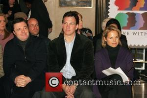 Nathan Lane and Katie Couric