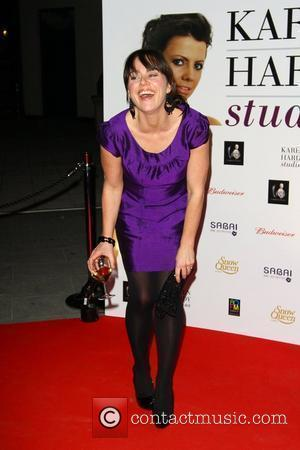 Jill Halfpenny attends a party for the launch of the new Karen Hardy dance Studio The Boulevard, Imperial Wharf London,...