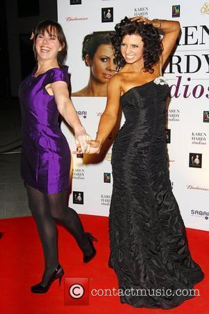 Karen Hardy and Jill Halfpenny attends a party for the launch of the new Karen Hardy dance Studio The Boulevard,...