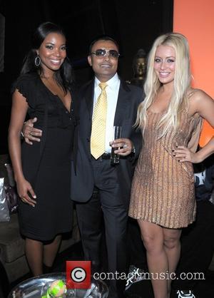 Gabrielle Union, Clive Seecomar, Aubrey O'day At Club Karu and Y