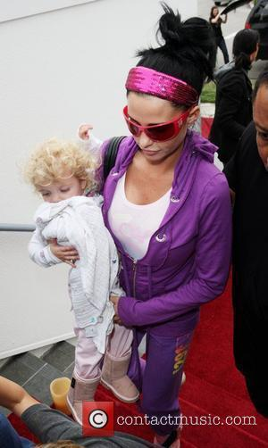 Katie Price and Princess Tiaamii Arriving At A Guesting Suite At The Sls Hotel In Beverly Hills.