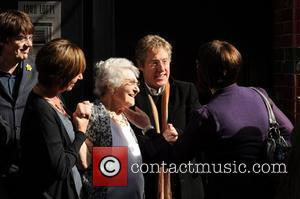 Roger Daltrey and Keith Moon's mother Kit Moon, along with family and friends  Heritage Foundation blue plaque un-veiling for...