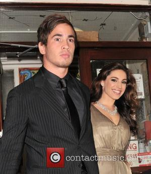 Danny Cipriani and Kelly Brook leaving the Comedy Theatre after her performance in the West End production of ' Fat...