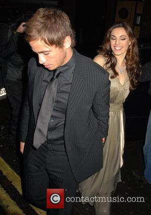 Danny Cipriani and Kelly Brook  having a night out at the L'Atelier Restaurant. London, England - 21.10.08