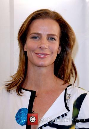 Rachel Griffiths attends the Kevan Hall 2008 Spring Collection Show held at Smash Box Studios as part of the Mercedes...