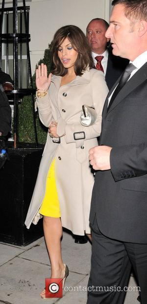 Eva Mendes leaving a private party, held at the home of Kid Rock, at 3.30am London, England - 05.12.08