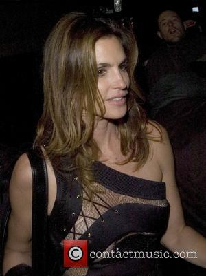 Cindy Crawford leaving a private party, held at the home of Barclays senior executive Roger Jenkins, at 330am The event...