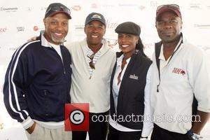 James Pickens, Jr., Clifton Davis, Omarosa, and Glynn Turman at Kiki's 1st Annual Celebrity Golf Challenge Presented by ALIZE, The...