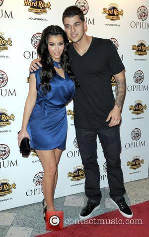 Kim Kardashian and Brother Rob Kardashian