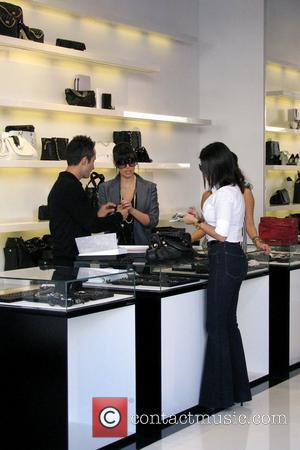 Kim Kardashian and Kourtney Kardashian Go Shopping At Chanel Boutique On Robertson Boulevard