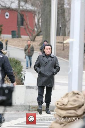 Ian McShane on the set of 'Kings' filming in Brooklyn New York City, USA - 10.02.09