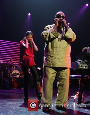 Stevie Wonder and Keisha Whitaker