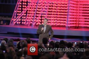 Adam Carolla Britney Spears switching on the Nokia Theatre Christmas Tree lights Los Angeles, California - 04.12.08