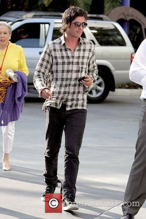 Brandon Davis Celebrities arrive to watch the Los Angeles Lakers game against the Denver Nuggets at the Staples Centre Los...