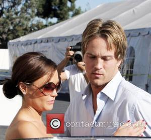 Larry Birkhead meets a female friend for lunch at La Petite Four in West Hollywood Los Angeles, California - 18.11.08