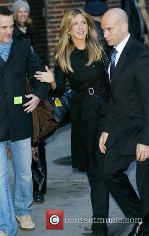 Jennifer Aniston and David Letterman