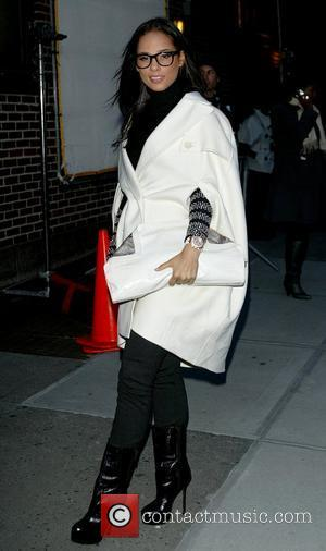 Alicia Keys and David Letterman