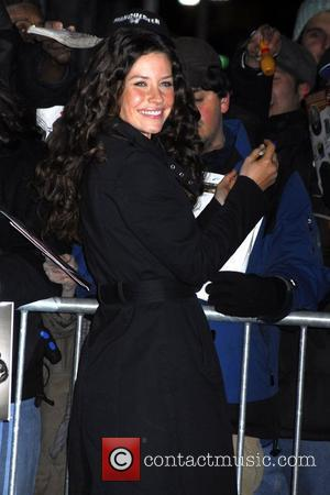 Evangeline Lilly and David Letterman