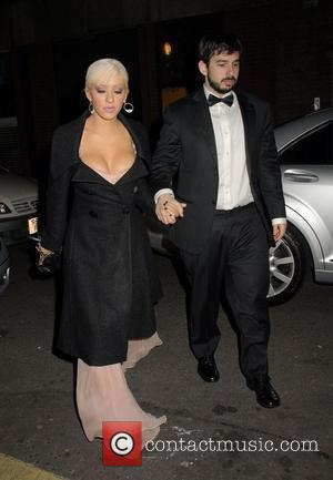 Christina Aguilera and Jordan Bratman Celebrities at L'Atelier restaurant London, England - 16.10.08