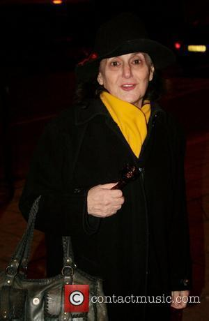 Lesley Joseph looking pale and very tired, outside the Theatre Royal Plymouth, after appearing in the 'Cinderella' pantomime. Plymouth, England...