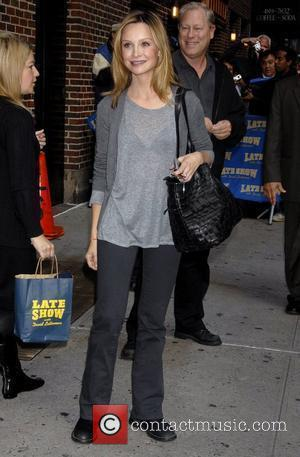Calista Flockhart and David Letterman
