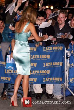 Bar Refaeli and David Letterman
